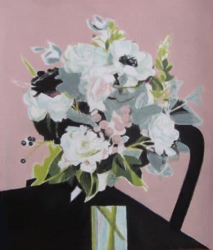 bouquet réalisé au pastel à l'huile pour vente d'art en ligne