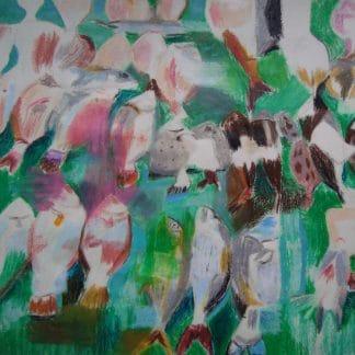 Poissons sur fond vert