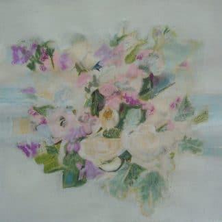fleurs sur fond blanc
