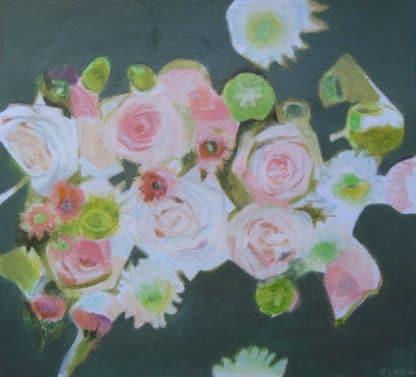 dessins de roses sur fond kaki pour art en ligne